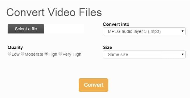 Files Conversion